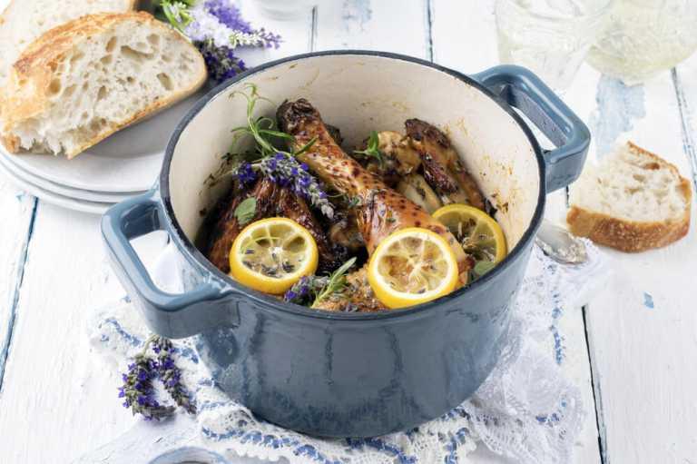 Pollo al Limón y Papas Rostizado Recipe Image
