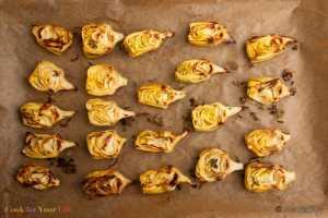 Corazones de Alcachofa Rostizados Recipe Image