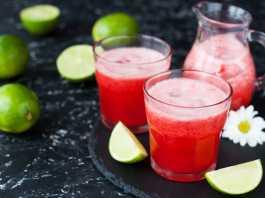 Fresh Strawberry, Apple & Lime Juice