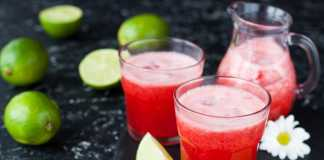Fresh Strawberry, Apple & Lime Juice