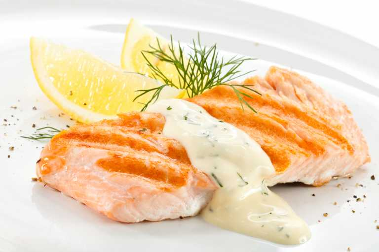 Dill & Mint Marinated Salmon Recipe Image