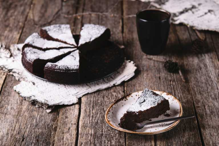Flourless Chocoholic Cake Recipe Image