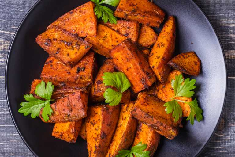 Spicy Sweet Potato Fries Recipe Image
