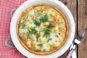 Salmon Quiche Recipe Image