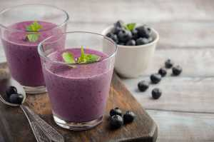 Blueberry Tofu Smoothie Recipe Image