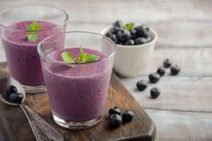 Blueberry Tofu Smoothie Recipe Image