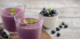 Blueberry Tofu Smoothie