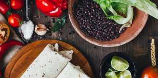 Breakfast Black Bean Burrito - vegetarian- easy