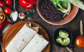 Breakfast Black Bean Burrito - vegetarian- easy