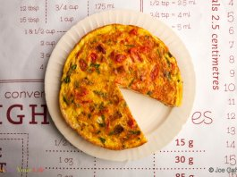 Potato Tomato Frittata - Cook For Your Life- anti-cancer recipes