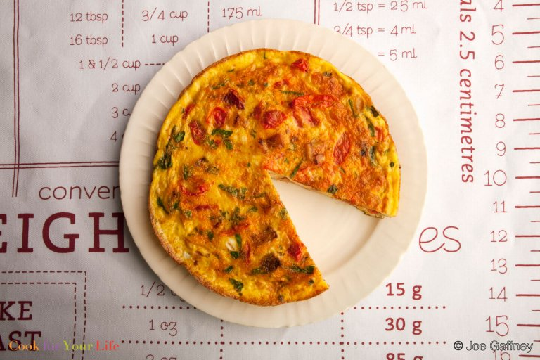 Potato Tomato Frittata Recipe Image