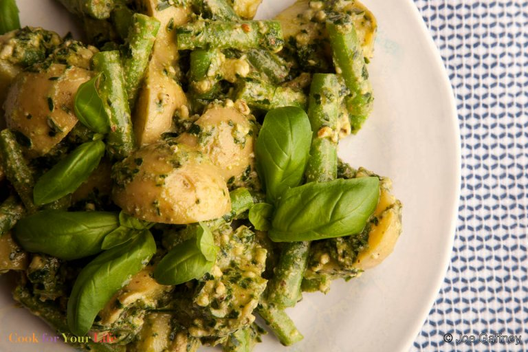 Green Bean & Potato Salad with Walnut Pesto Recipe Image