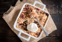 Apple Cherry Crisp