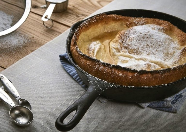Whole Wheat Apple Dutch Baby Recipe Image