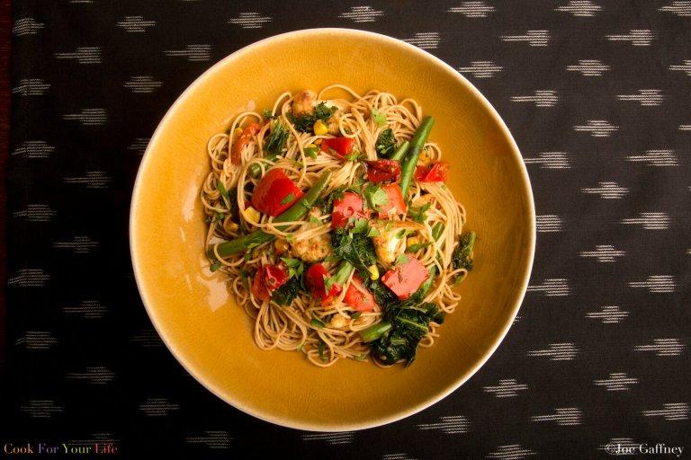 Pasta Primavera Estilo Oriental Recipe Image