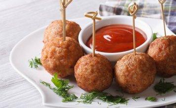 albondigas de pollo buffalo - cook for your life - recetas anti cancer -