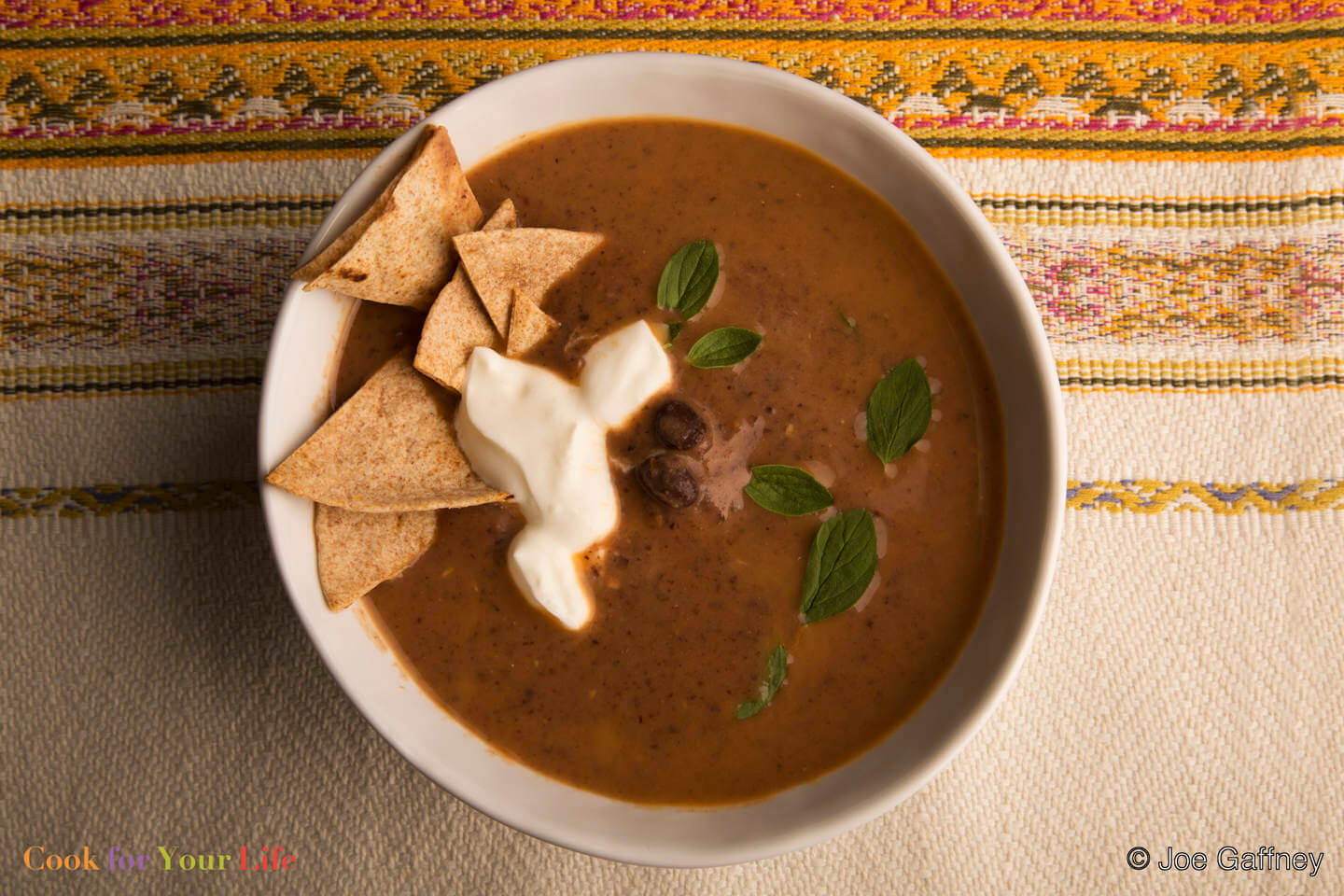 black beans, tomatoes, onions, red pepper- Black Bean Soup- anti-cancer recipes- cook for your life