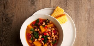 black eyed-pea & pumpkin stew - anti-cancer recipes - cook for your life