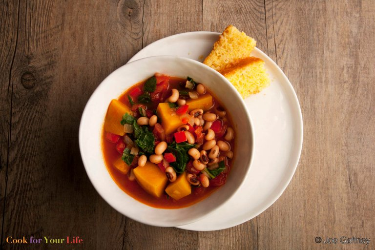 Black Eyed-Pea & Pumpkin Stew Recipe Image