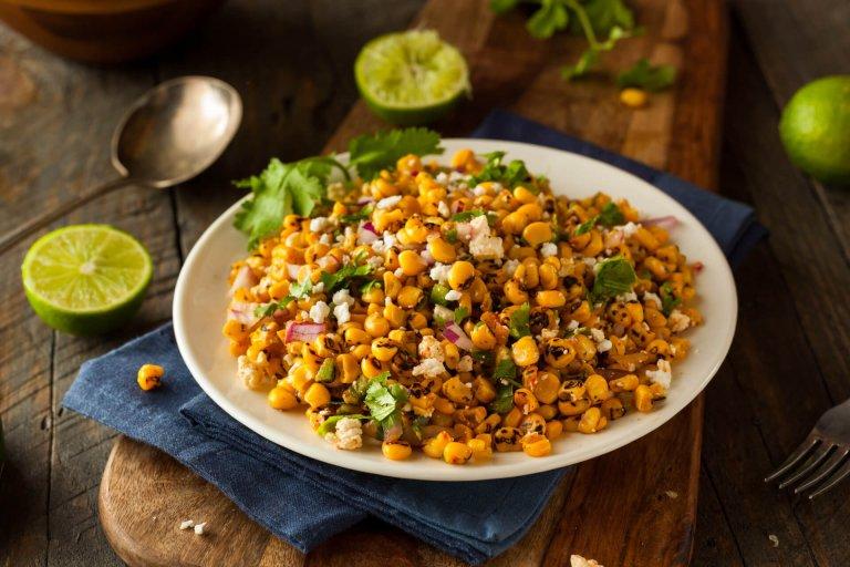 Grilled Corn & Poblano Salad Recipe Image