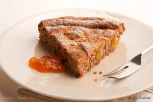 Cannellini Cake with Apricots Recipe Image