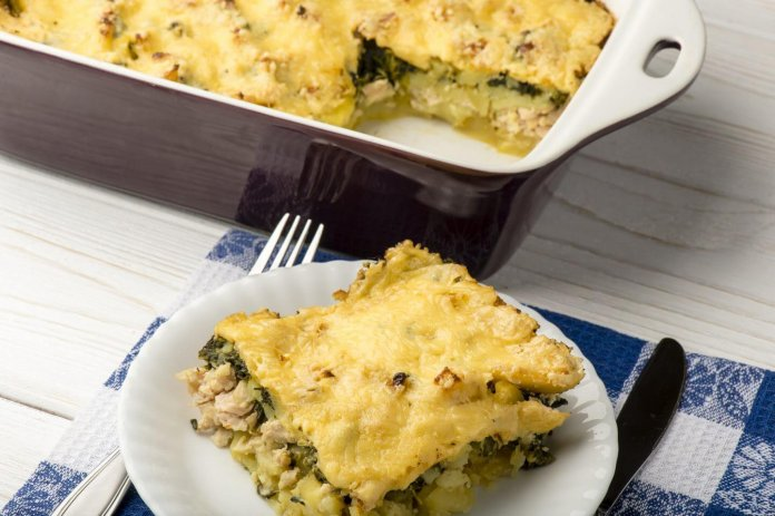Cheesy Chicken Florentine Casserole - Cook for Your Life- anti-cancer recipes