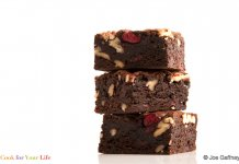 Cherry Pecan Dark Chocolate Brownies- anti-cancer recipes- cook for your life