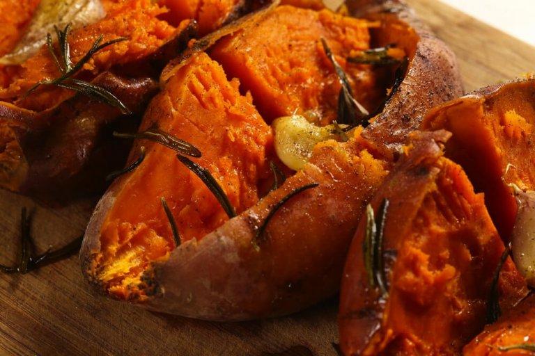 Patatas Dulces Rellenas de Castañas Recipe Image