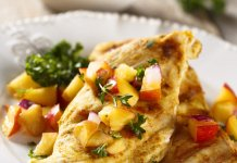fruit topped chicken