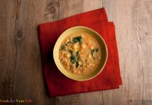 Chickpea & Sausage Soup- anti-cancer recipes- cook for your life