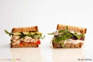 White Bean & Roasted Beet Sandwich Recipe Image