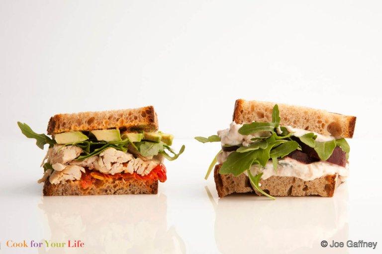 White Bean & Roasted Beet Sandwich Recipe Image