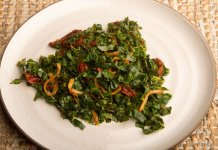 Chipotle Greens- anti-cancer recipes- cook for your life
