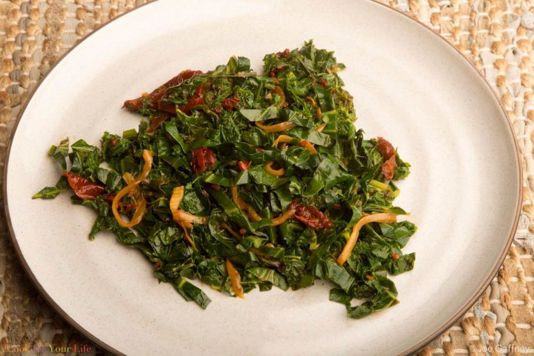 Chipotle Braised Greens Recipe Image