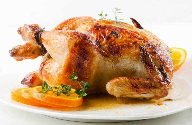 Citrus Thyme Roasted Chicken Recipe Image