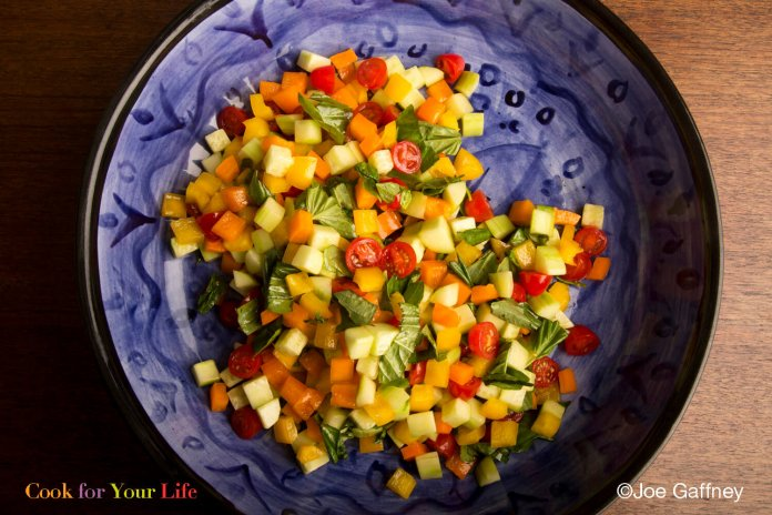 crunchy summer salad- cook for your life- anti-cancer recipes
