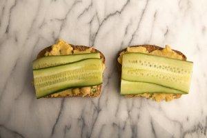 Chickpea Cucumber Toast Recipe Image