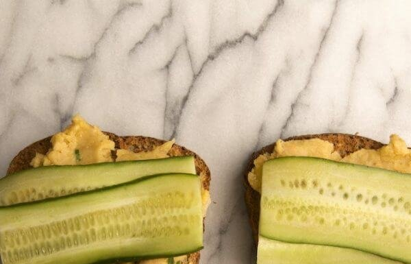Cucumber Chickpea Toast