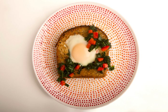 Eggs Croque Madame with kale- anti-cancer recipes- cook for your life