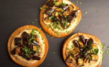 Eggplant Pita Pizza, anti-cancer recipes, Cook for your life