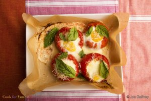 Eggs Baked in Tomatoes Recipe Image