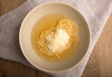 Fabrizia's Capellini in Broth with Ricotta- anti-cancer recipes- cook for your life