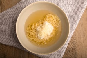 Fabrizia's Capellini in Broth with Ricotta Recipe Image