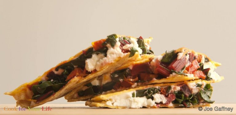 Goat Cheese & Chard Quesadilla Recipe Image