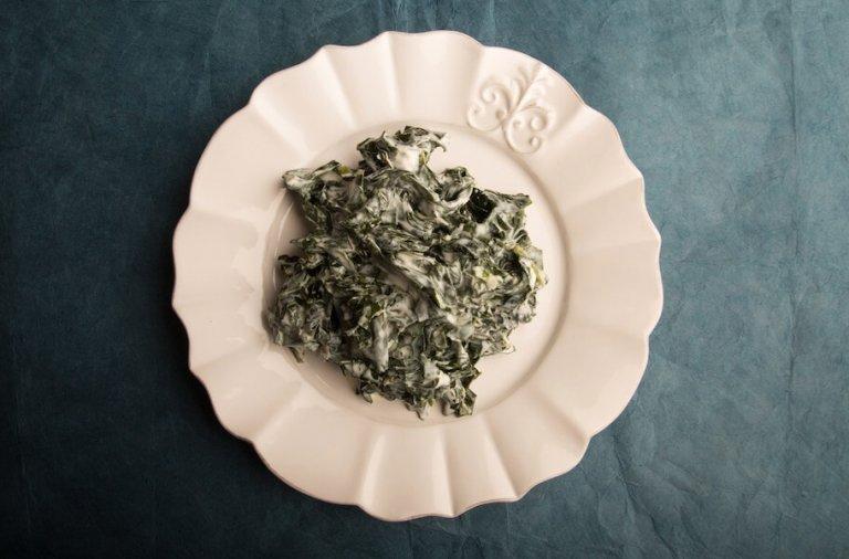 Greek Yogurt Creamed Kale Recipe Image