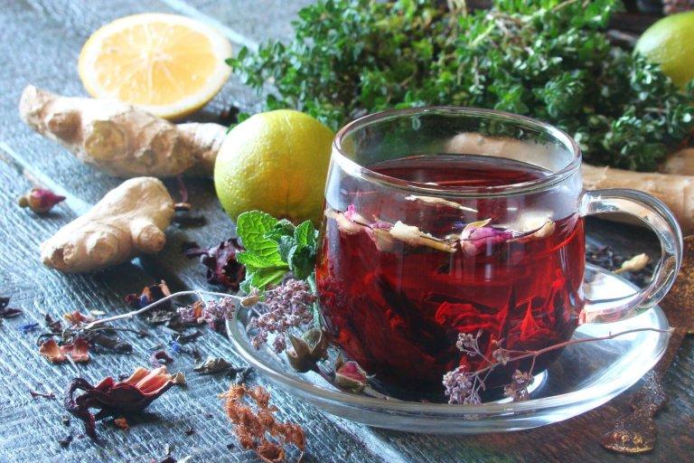 Ginger Hibiscus Tea Recipe Image