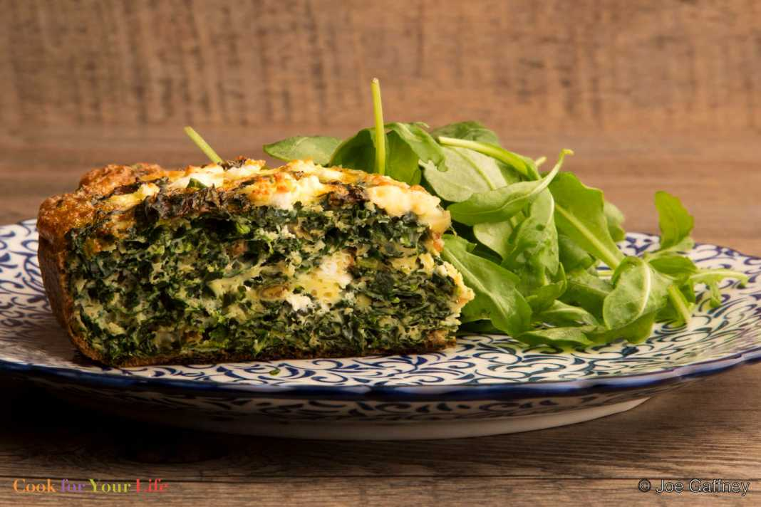 Kale and Feta Cake - Cook For Your Life-anti-cancer recipes