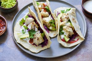 Lemon-Lime Cilantro Fish Tacos Recipe Image