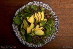 Lentil & Avocado Salad Recipe Image