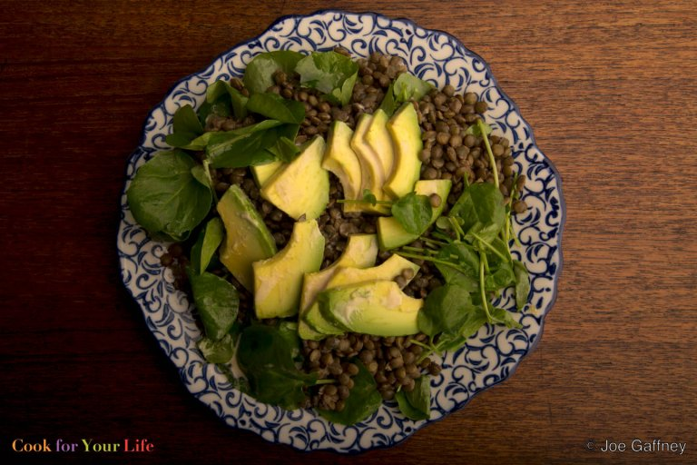Lentil & Avocado Salad Recipe Image